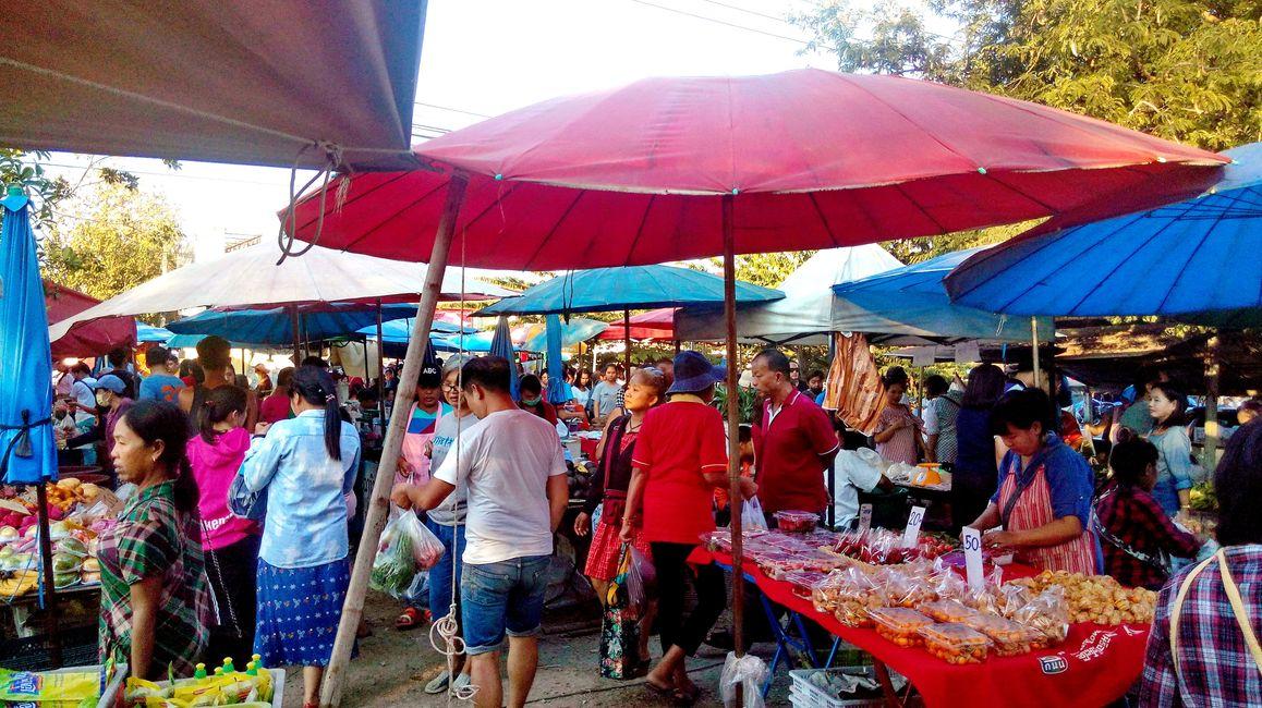At a walking local market