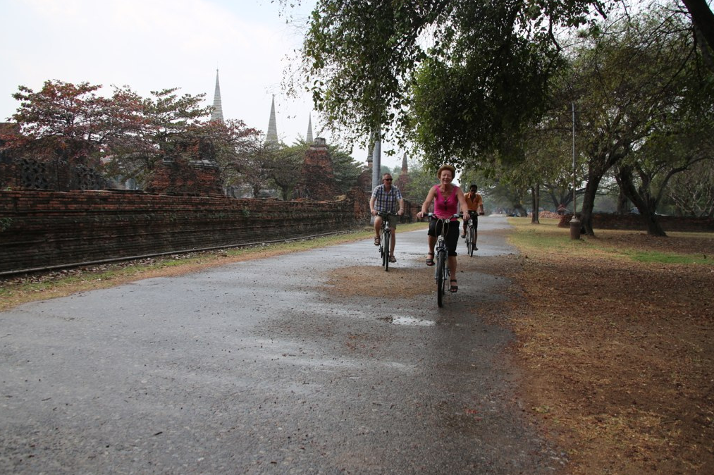 Cycle in Ayutthaya Historical Park