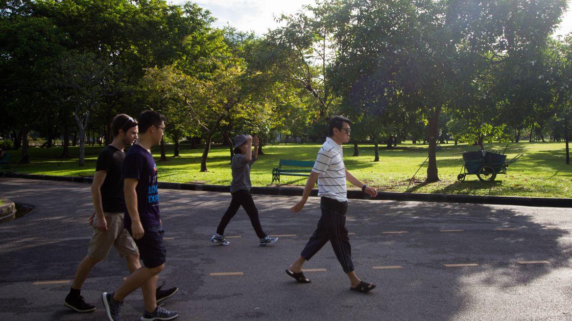 Morning run at Lumphini Park