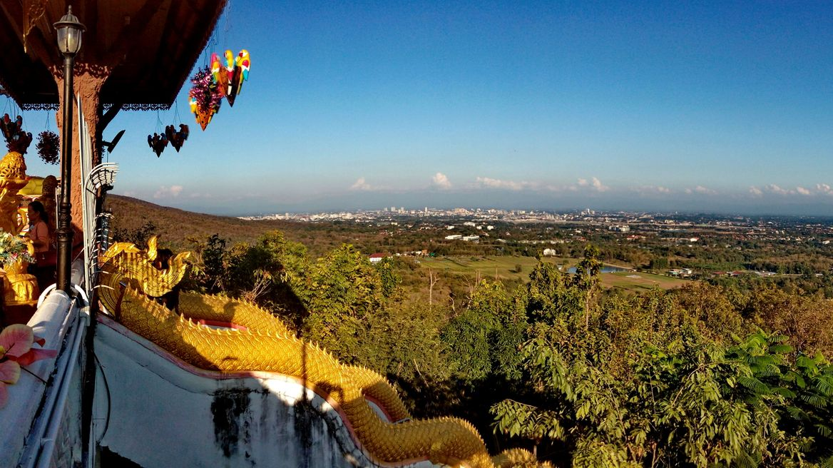 Panoramic view from the temple