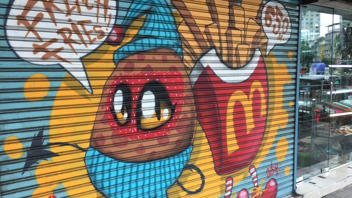 Graffiti & street art along the way
