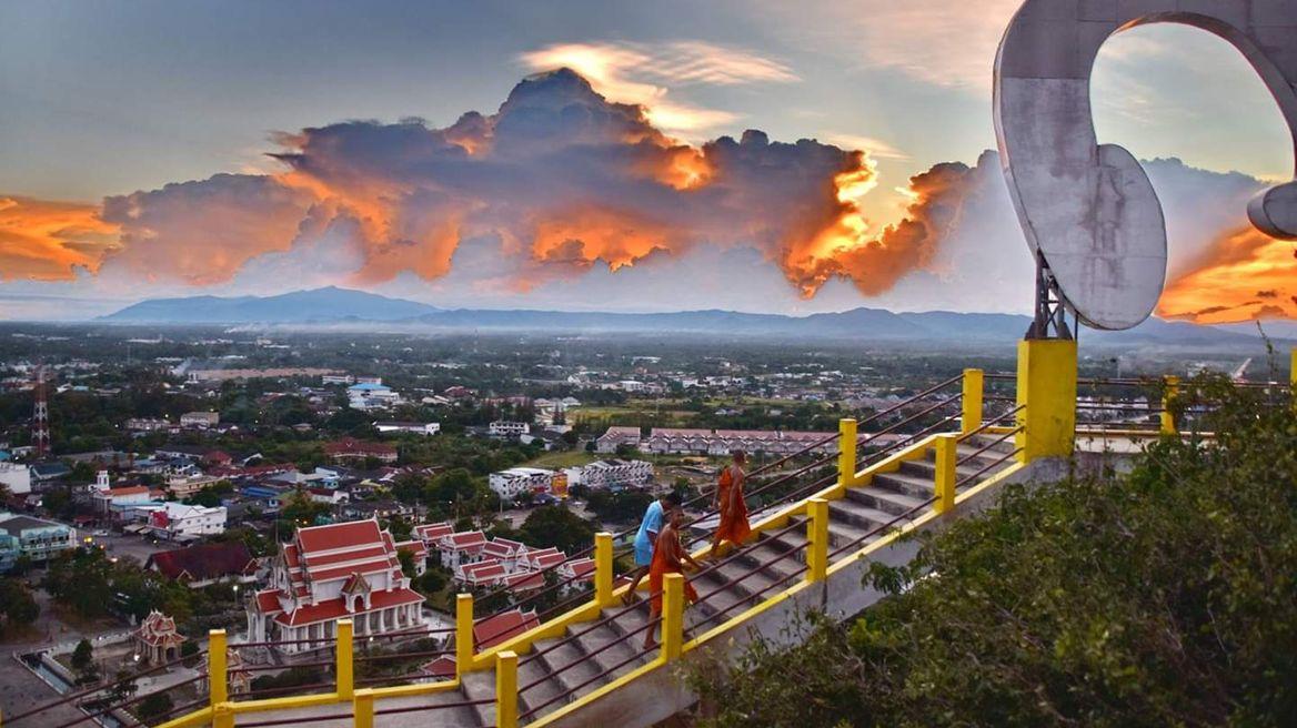 Temple on mountain await you.
