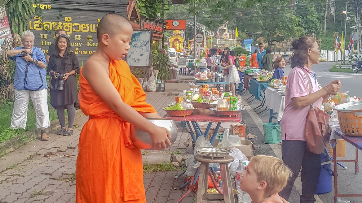 Alms giving - Monks Food Offering