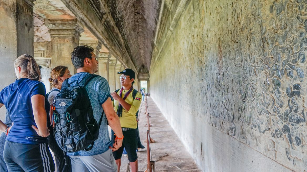 Exploring the history of Angkor Wat with expert local guide