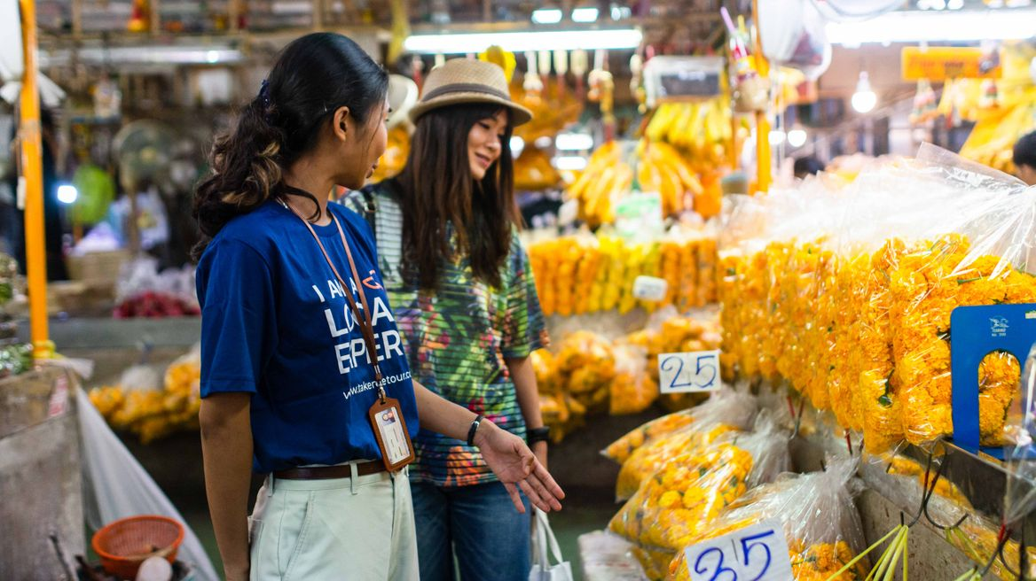 Visit the biggest flower market in Thailand
