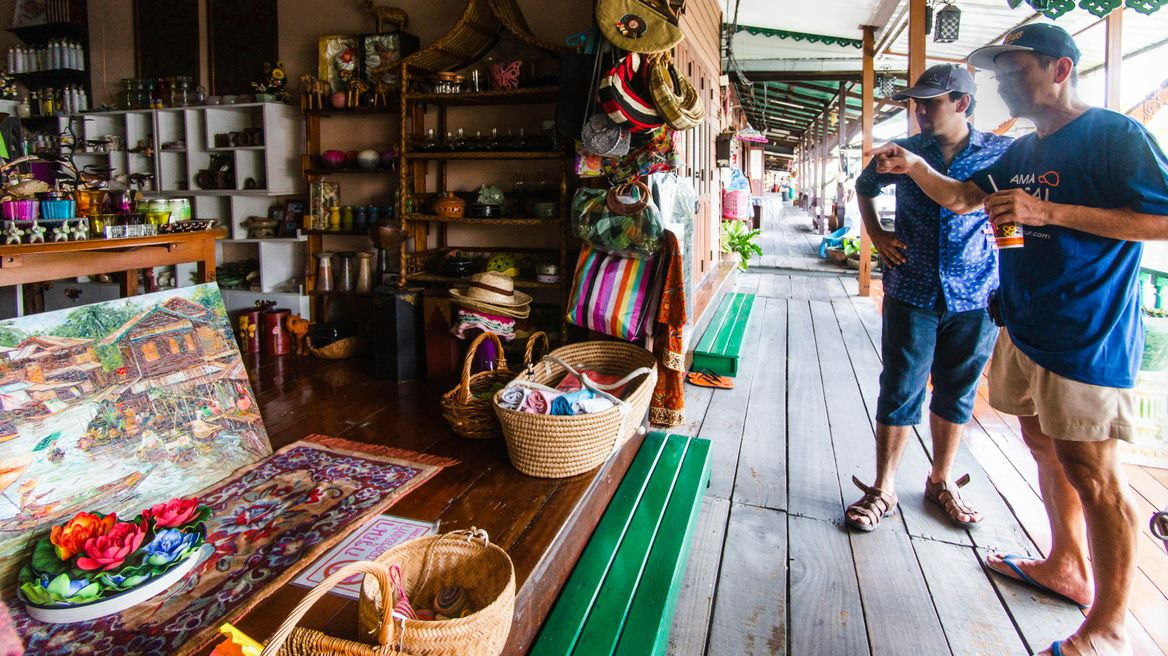 Visit traditional shops in the local community.