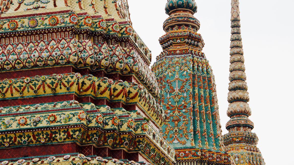 Pagodas at Temple of the Reclining Buddha (Wat Pho)