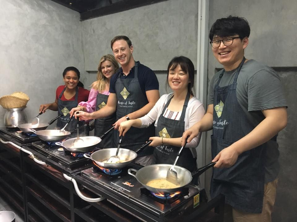 Enjoy cooking with friends from all around the world
