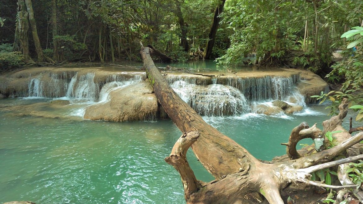 Erawan waterfall (first level)