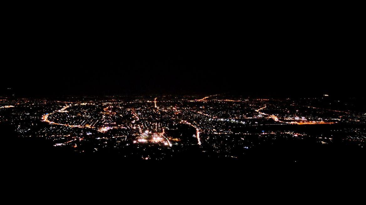 Stunning night view of Chiang Mai city
