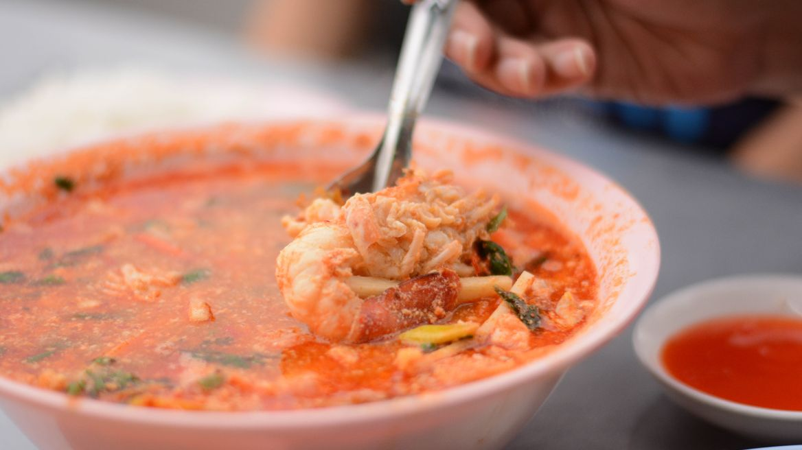Tom Yum shrimps