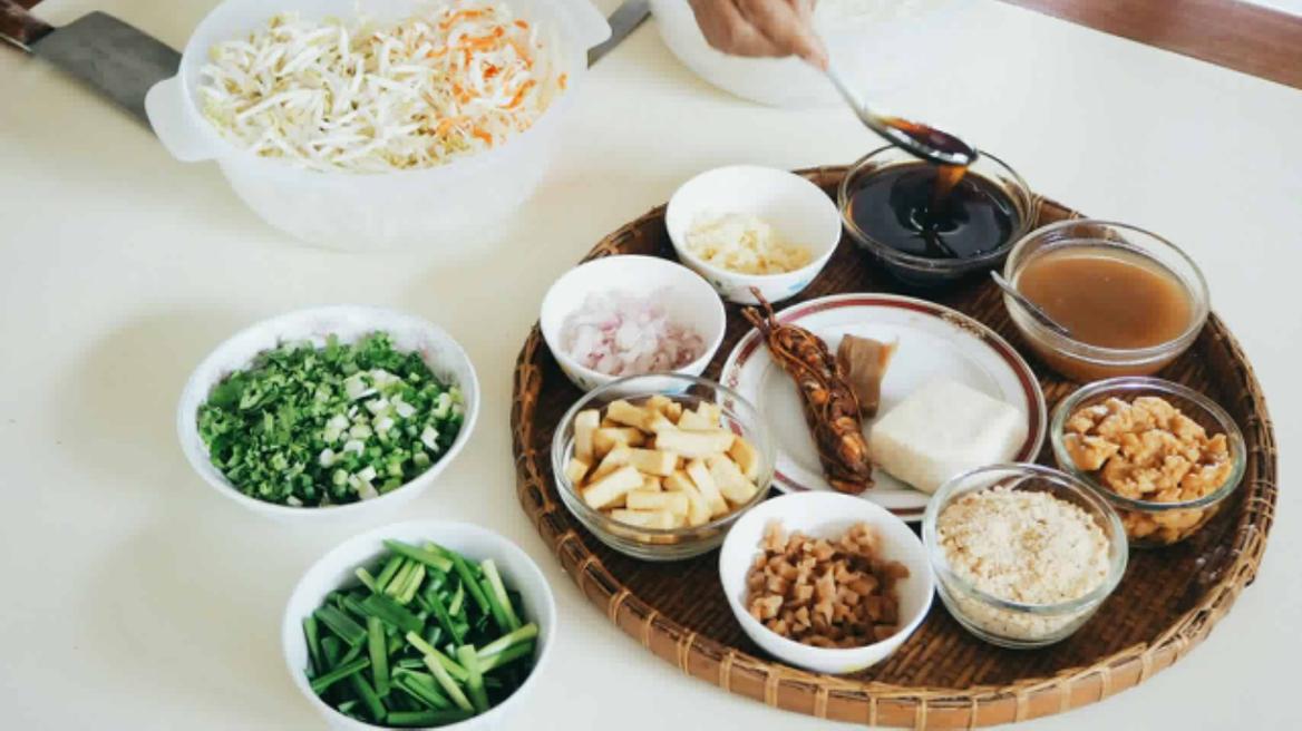 Pad-Thai ingredients