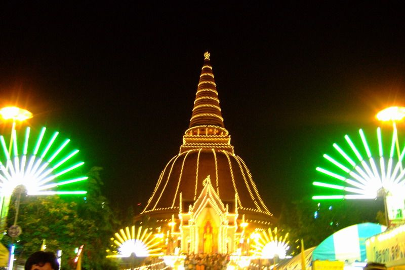 Phra Pathom Chedi when they have the festival