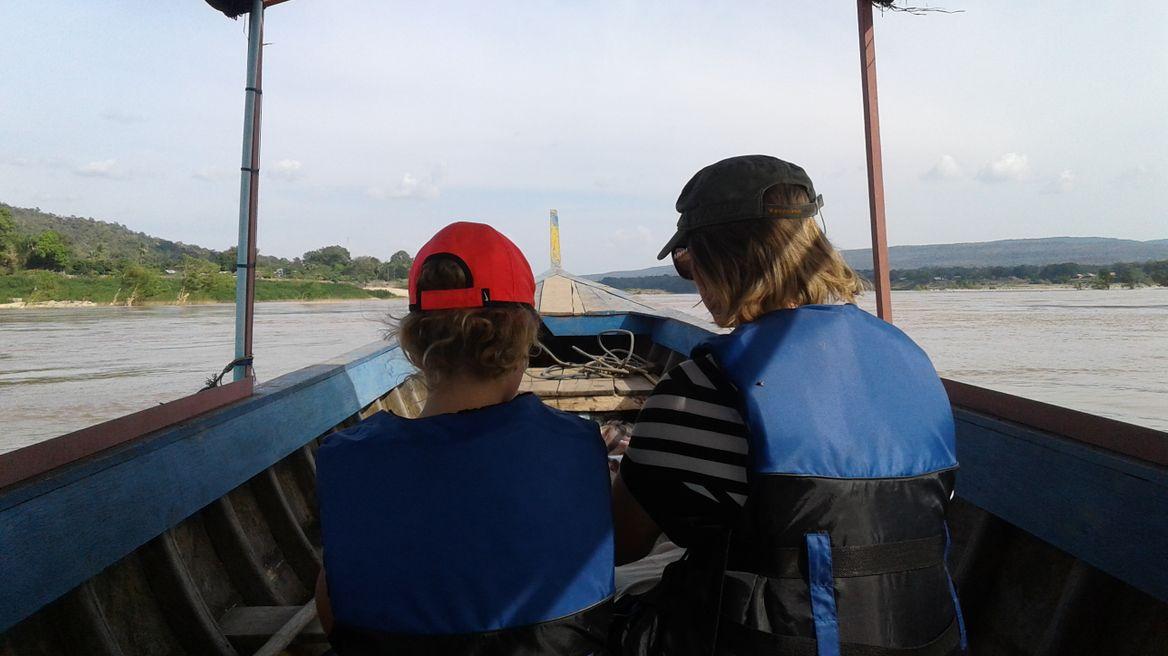 Boat trip in the river