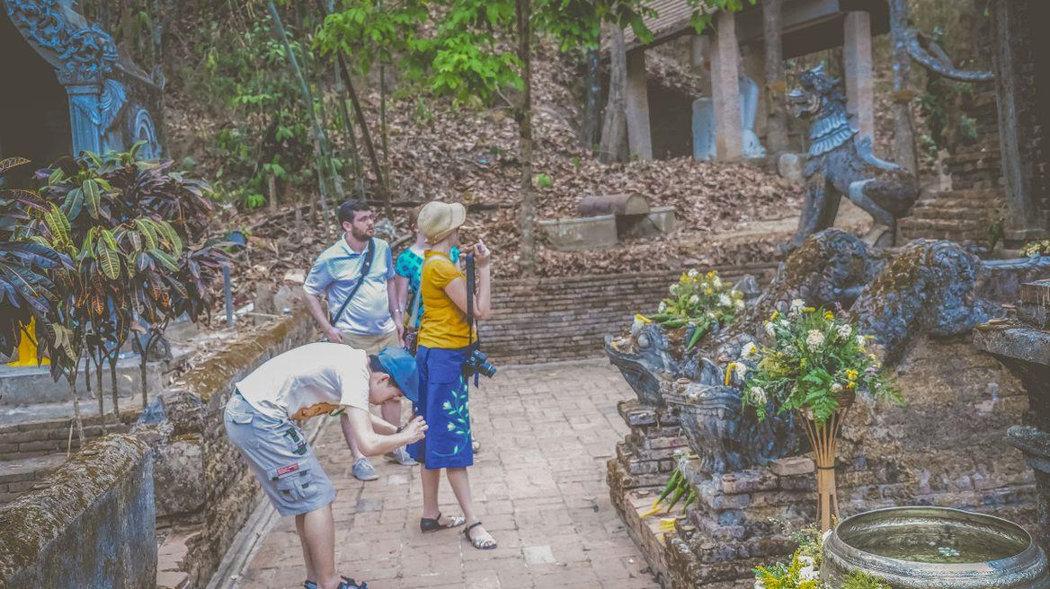 At hidden temple Wat palad pagoda