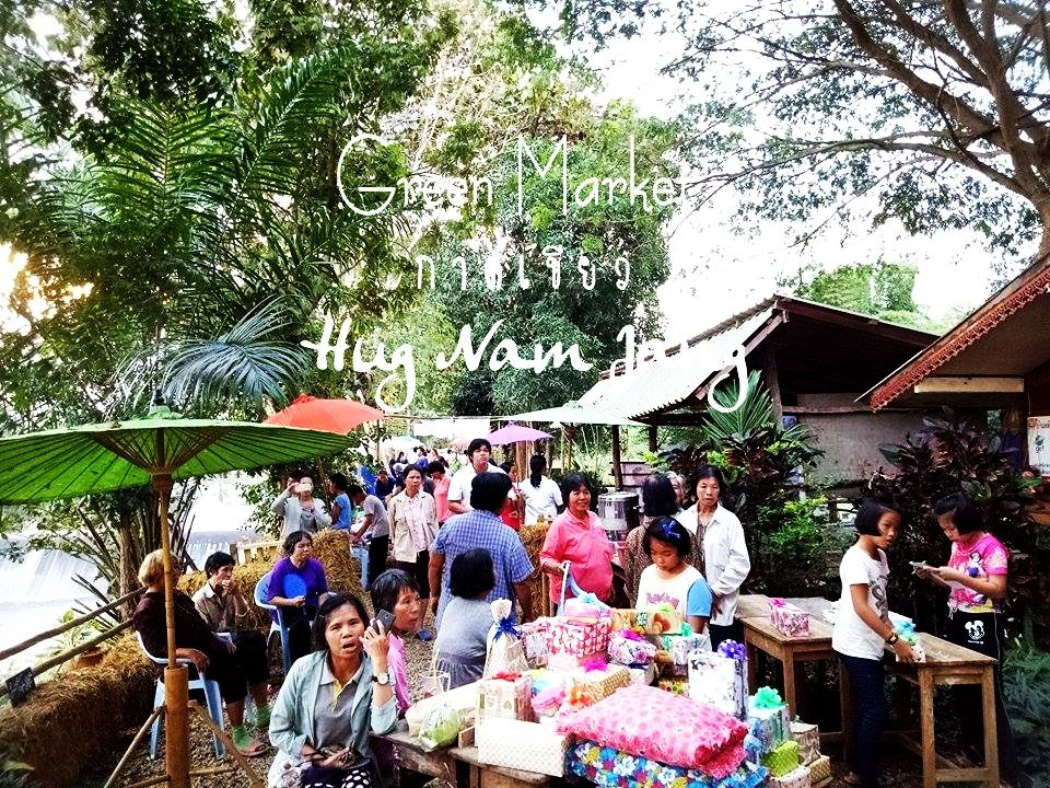 the green market on sunday where you can find many product from the organic village