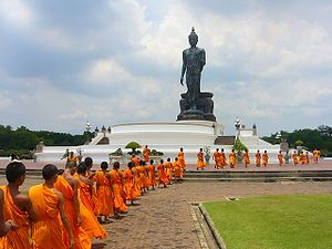 Live peace relaxing your mind at the biggest Buddhist Park (Phutthamonthon Park in Bangkok).