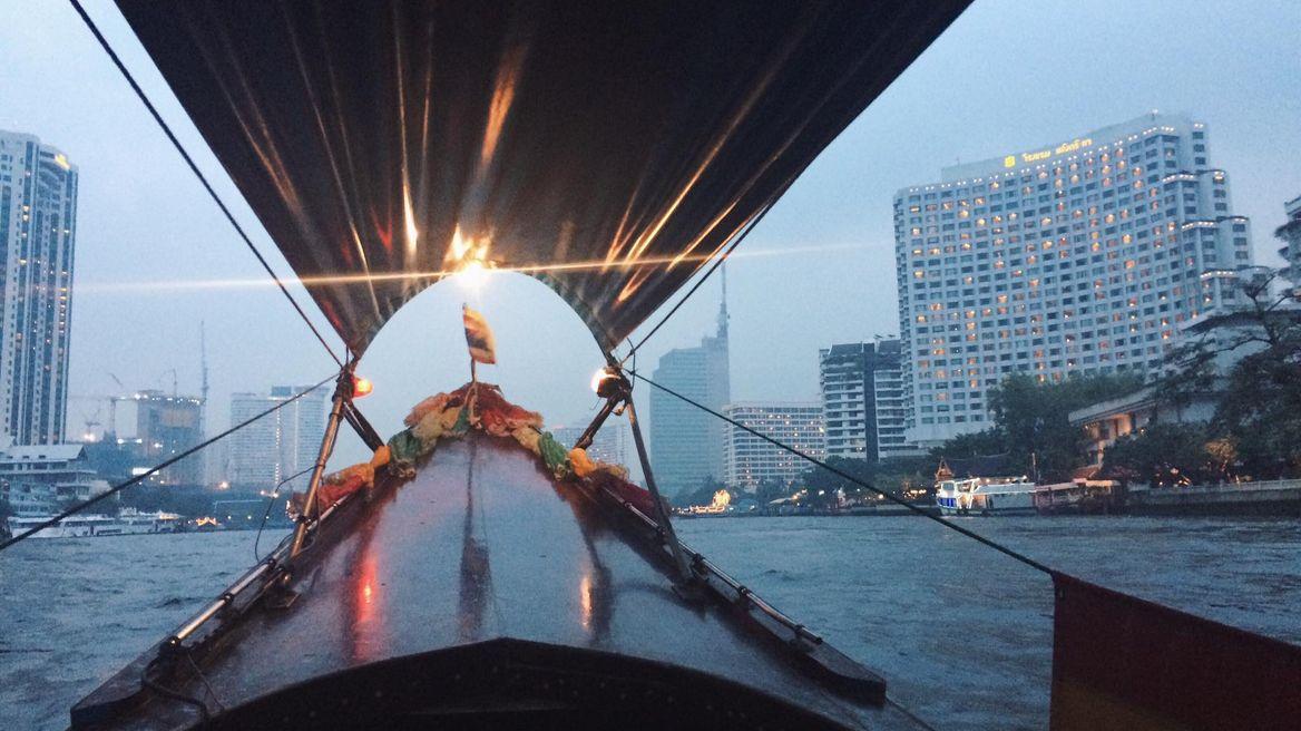 Chao Phraya river (long-tail boat ride at night)