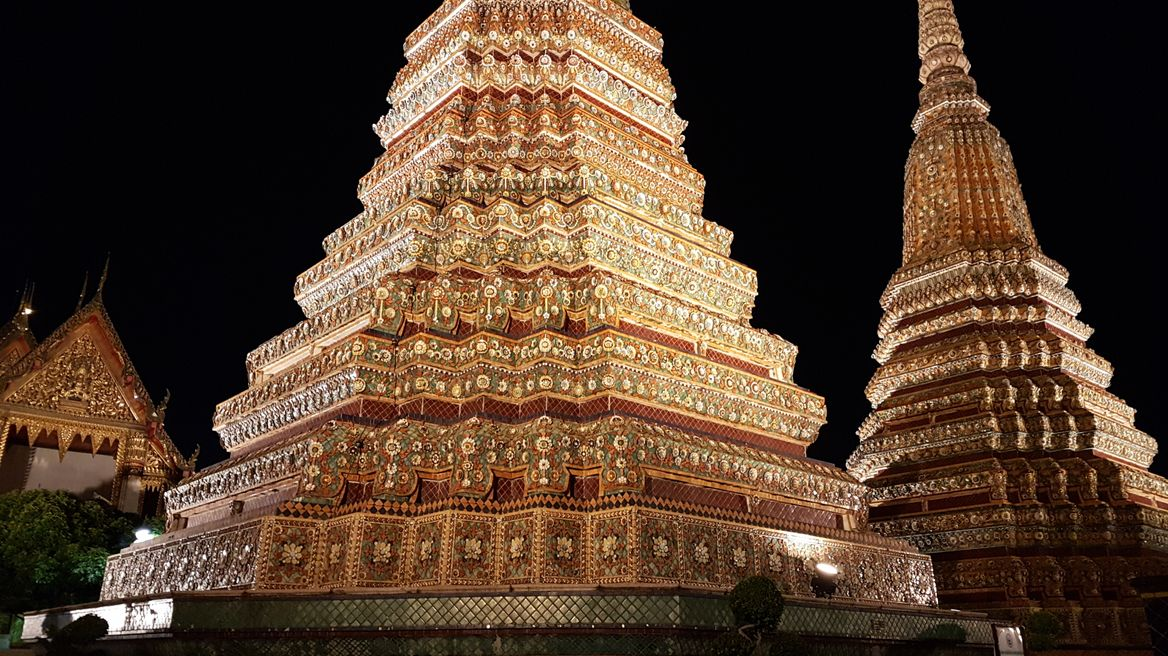 The pagodas of Wat Pho (Temple of the Reclining Buddha)