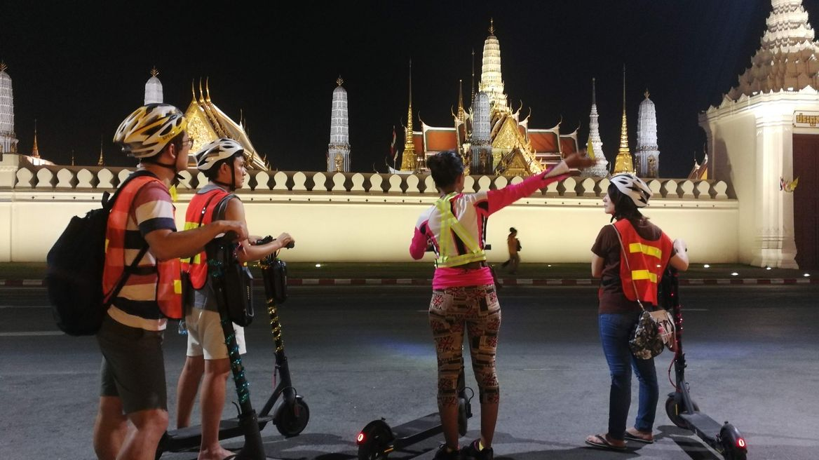Scoot around the Grand Palace at night
