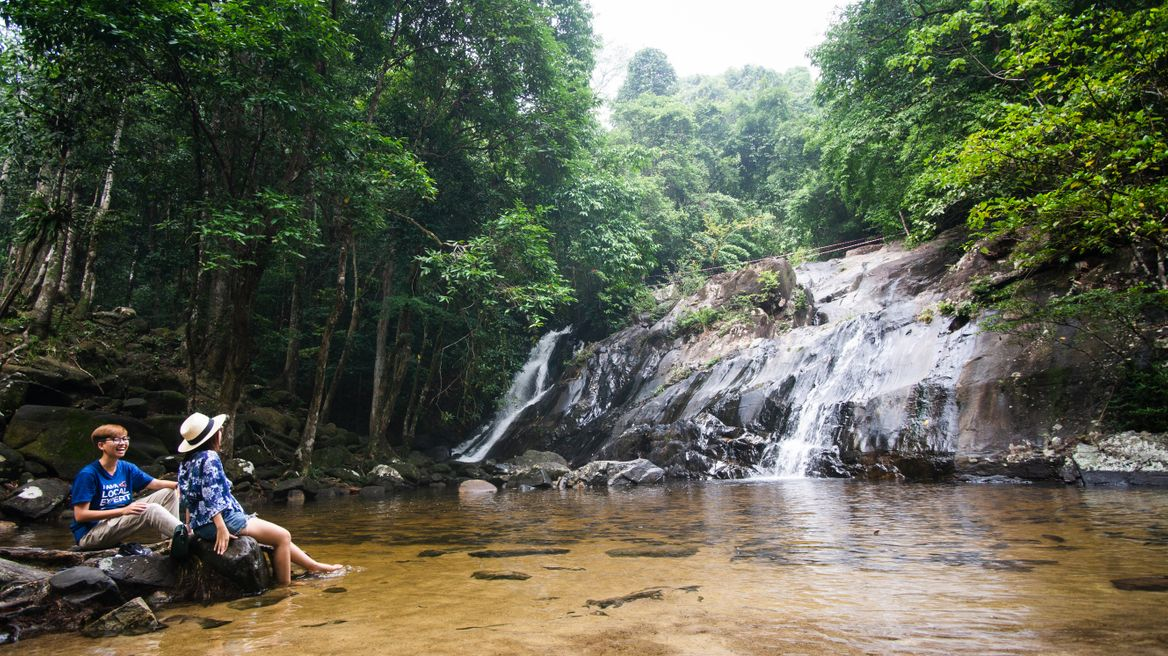 🌊Get fresh and discover the nature at Ton Nga Chang waterfall.