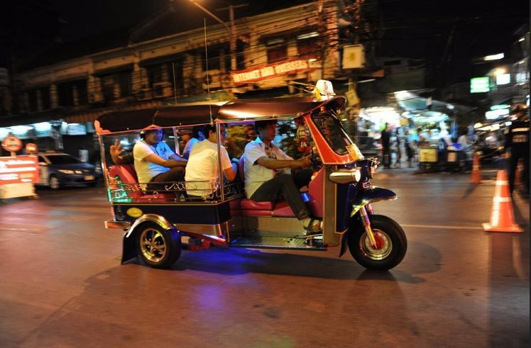 On board....Tuk Tuk in Thailand