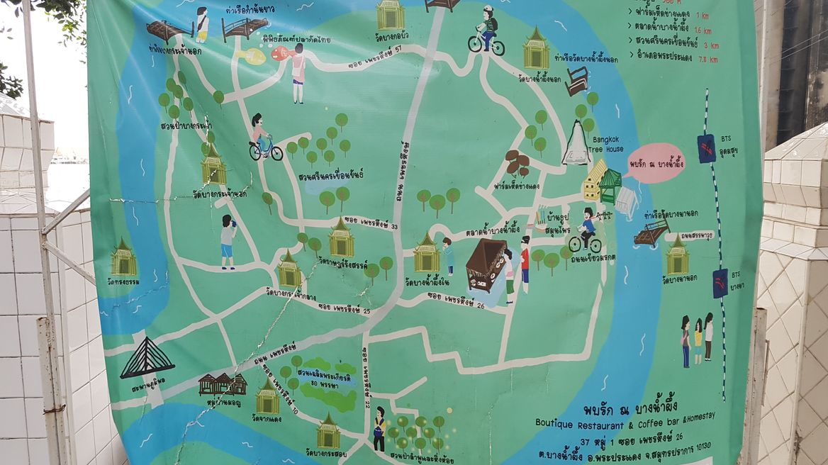 Map in Green lung bangkok