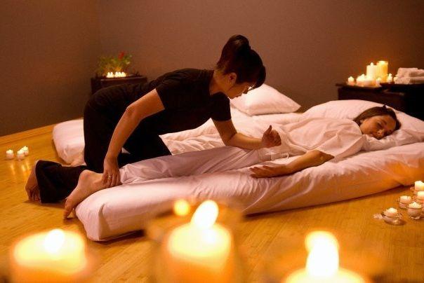 Get massage after a long day