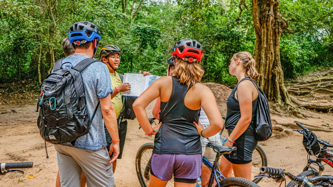 Cycling and learning about the history of Angkor