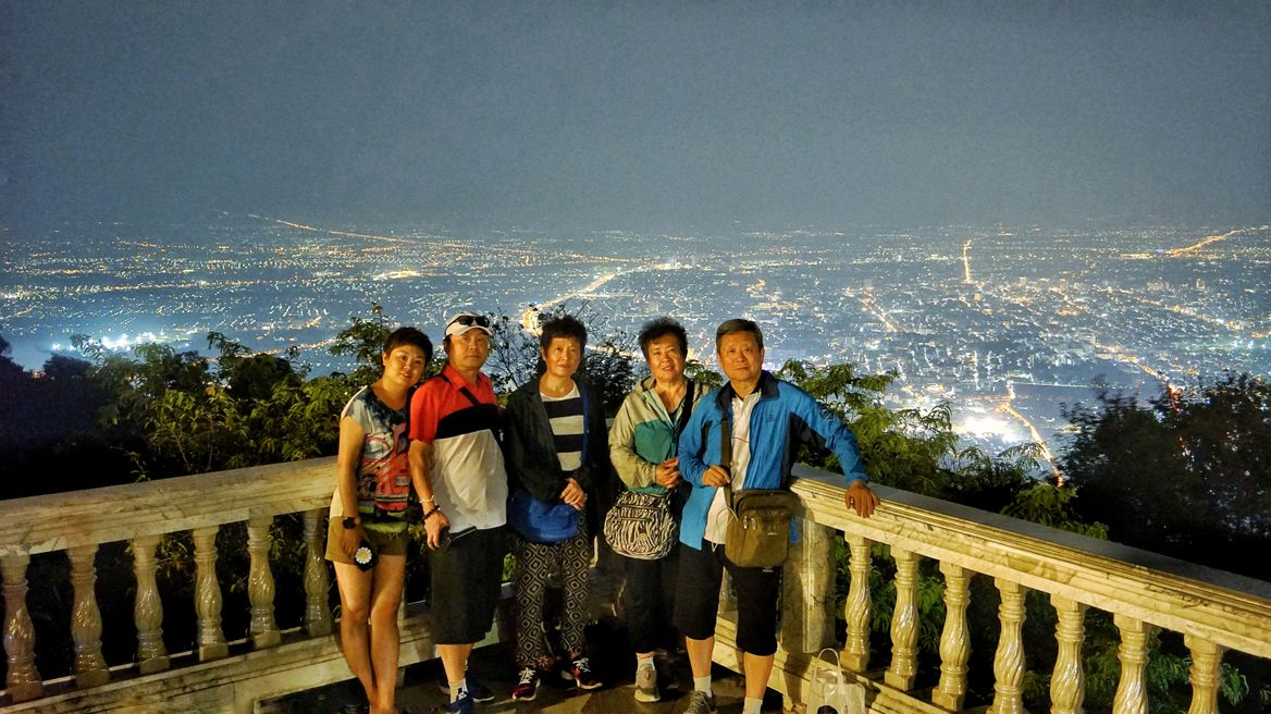 Family with best night view in town