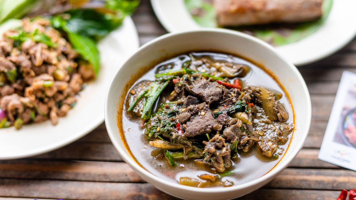 Kang Aom Nea (Beef boiled with herb)