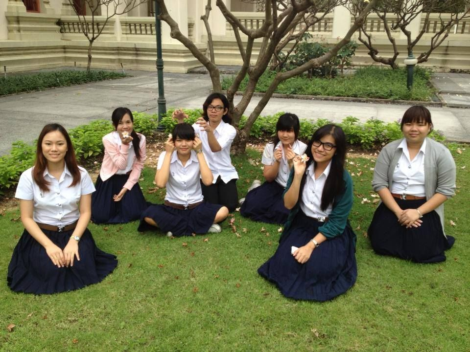 Me and my friends at Chula Uni ! ;)  We love trees and summer breeze !
