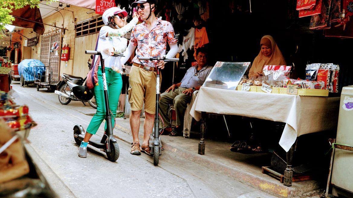 Eat street food as you scooter around Bangkok