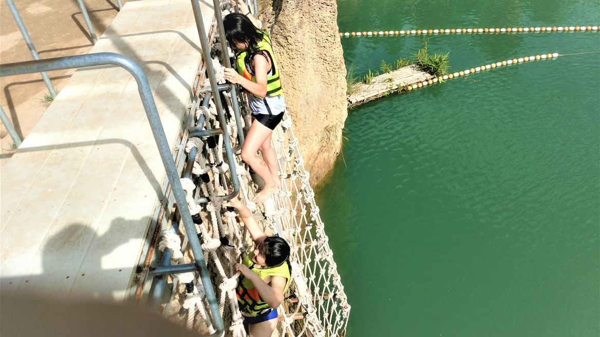 Swimming at Chiang Mai Grand Canyon