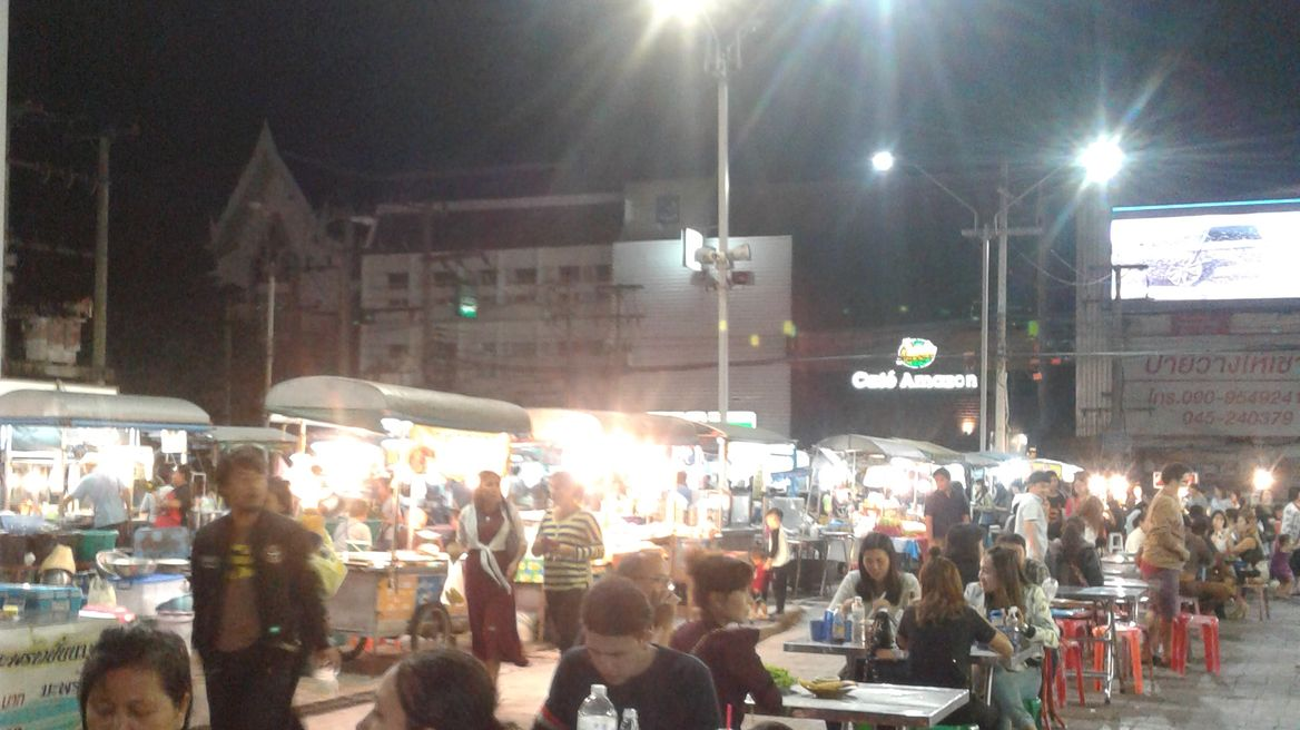 Street food at the night bazaar