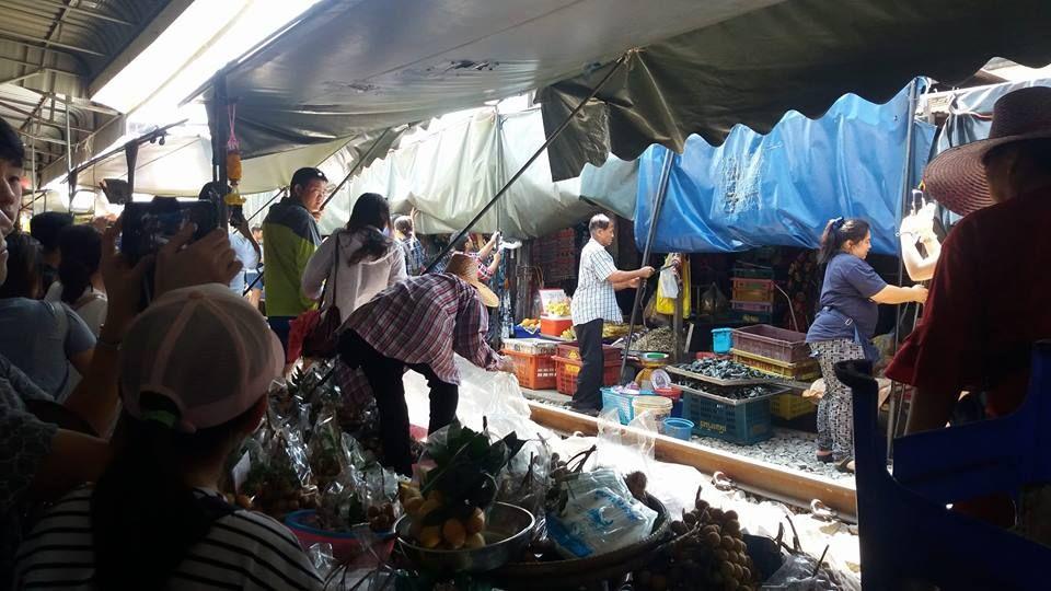 Umbrella Market in Samut Songkhram