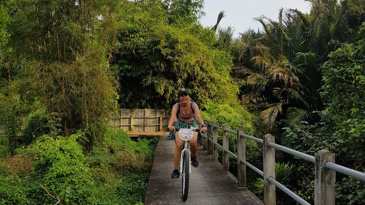 Cycle through a maze of pathways in the Jungle of Bangkok