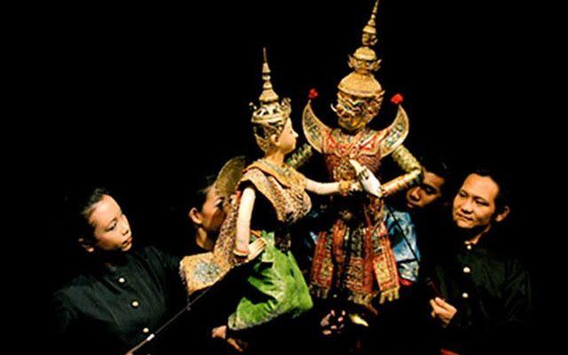 A traditional Thai puppet show restaurant at Asiatique