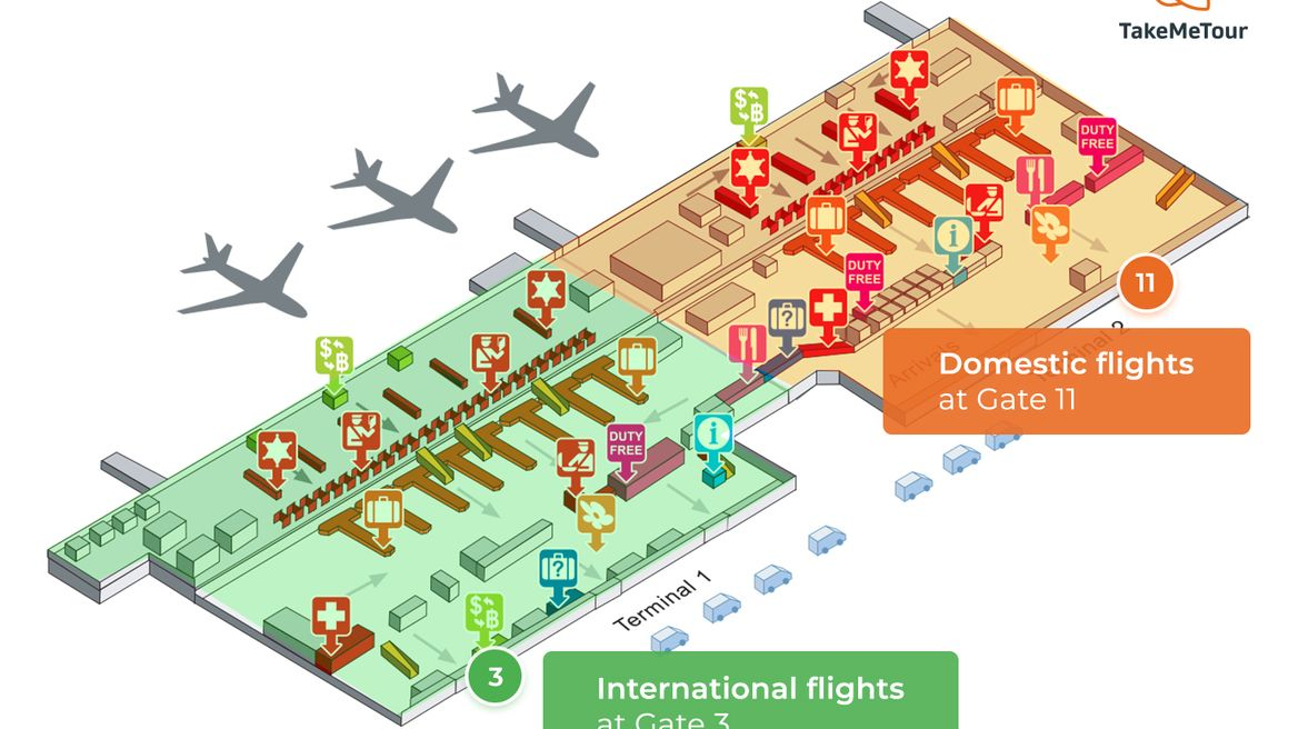Don Mueang airport map