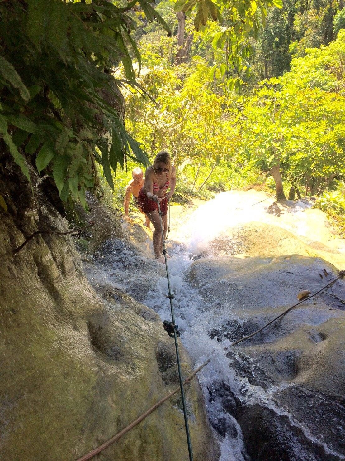 Climb on Bua Tong Waterfalls