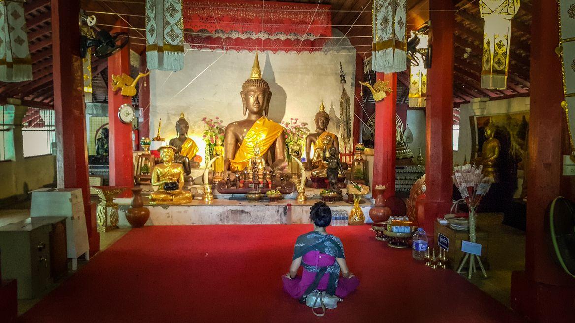 At hidden temple Wat palad pray hall