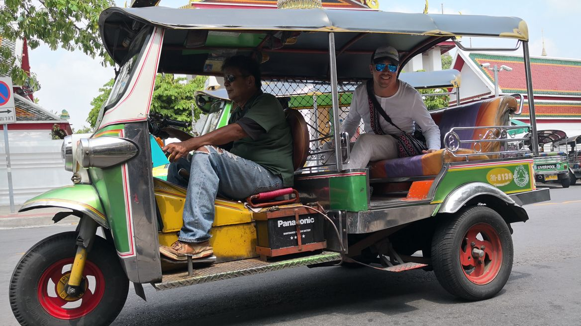 Tuk-Tuk ride in Bangkok