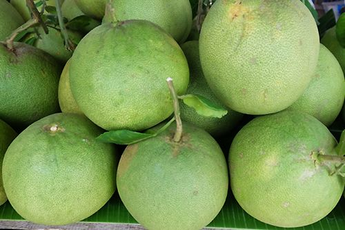 "Pomelo grown in Thai-Kha canal village, called ""Khao Yai"""