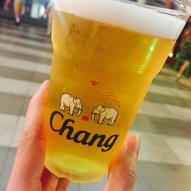 Thailand's famous Chang beer