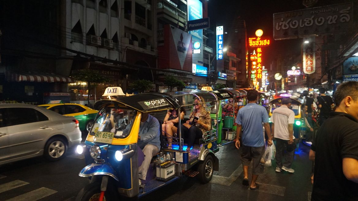 China Town , The Biggest Chinese community in Bangkok along Yaowarat Road,