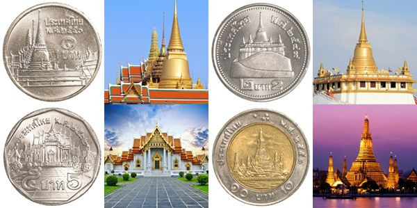 Pictures appeared in Thai coin
