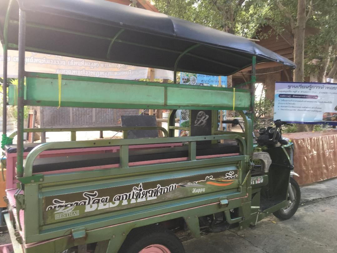take a tuk tuk on island (only 1car at here)