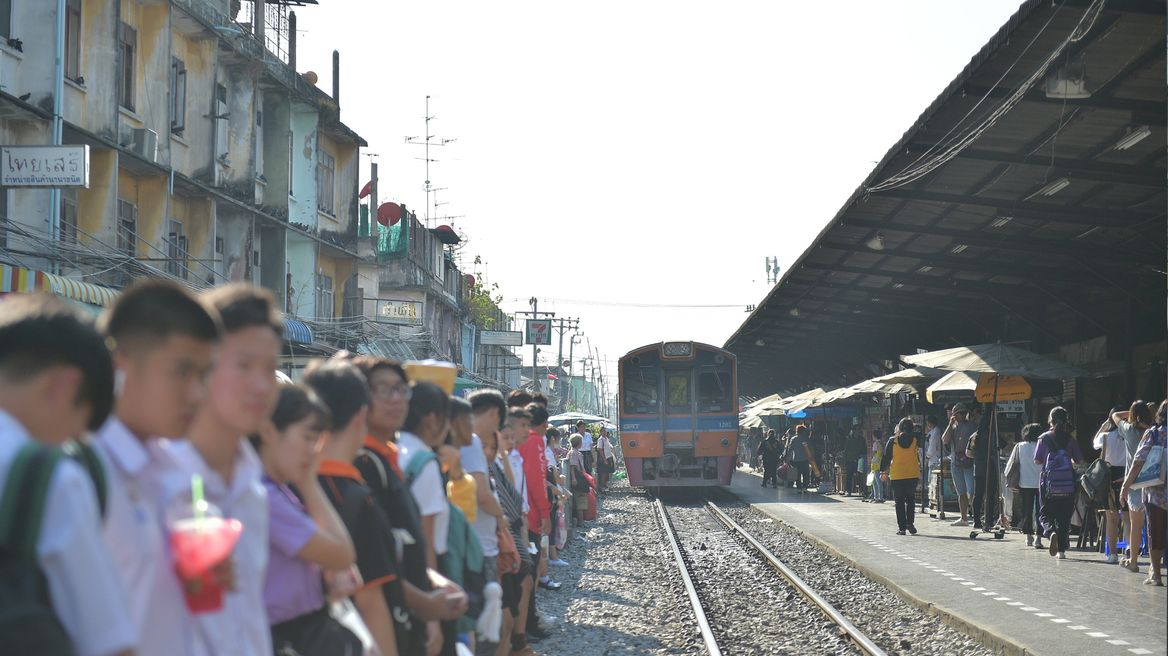 Local low-speed commuter train