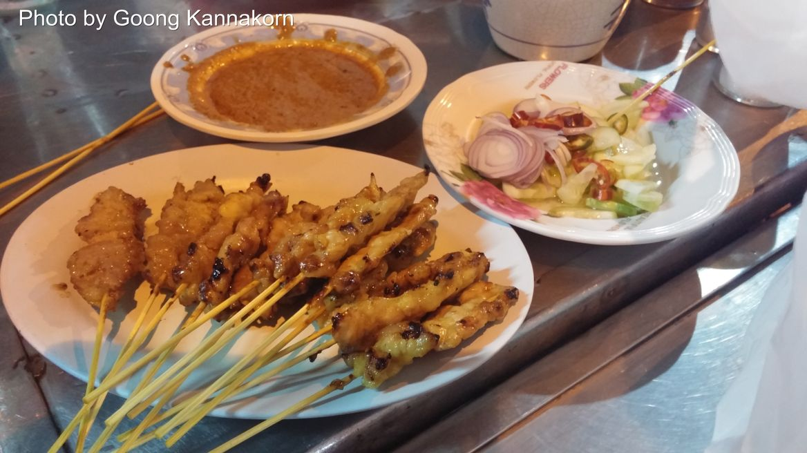 Satay Chicken with peanut sauce and cucumber sauce