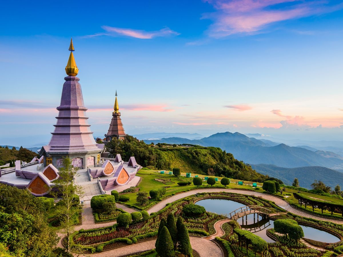 King and Queen Pagodas, Chiang Mai, Thailand